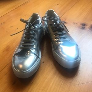 Acne Studios Sneakers - Metallic, Size 38.